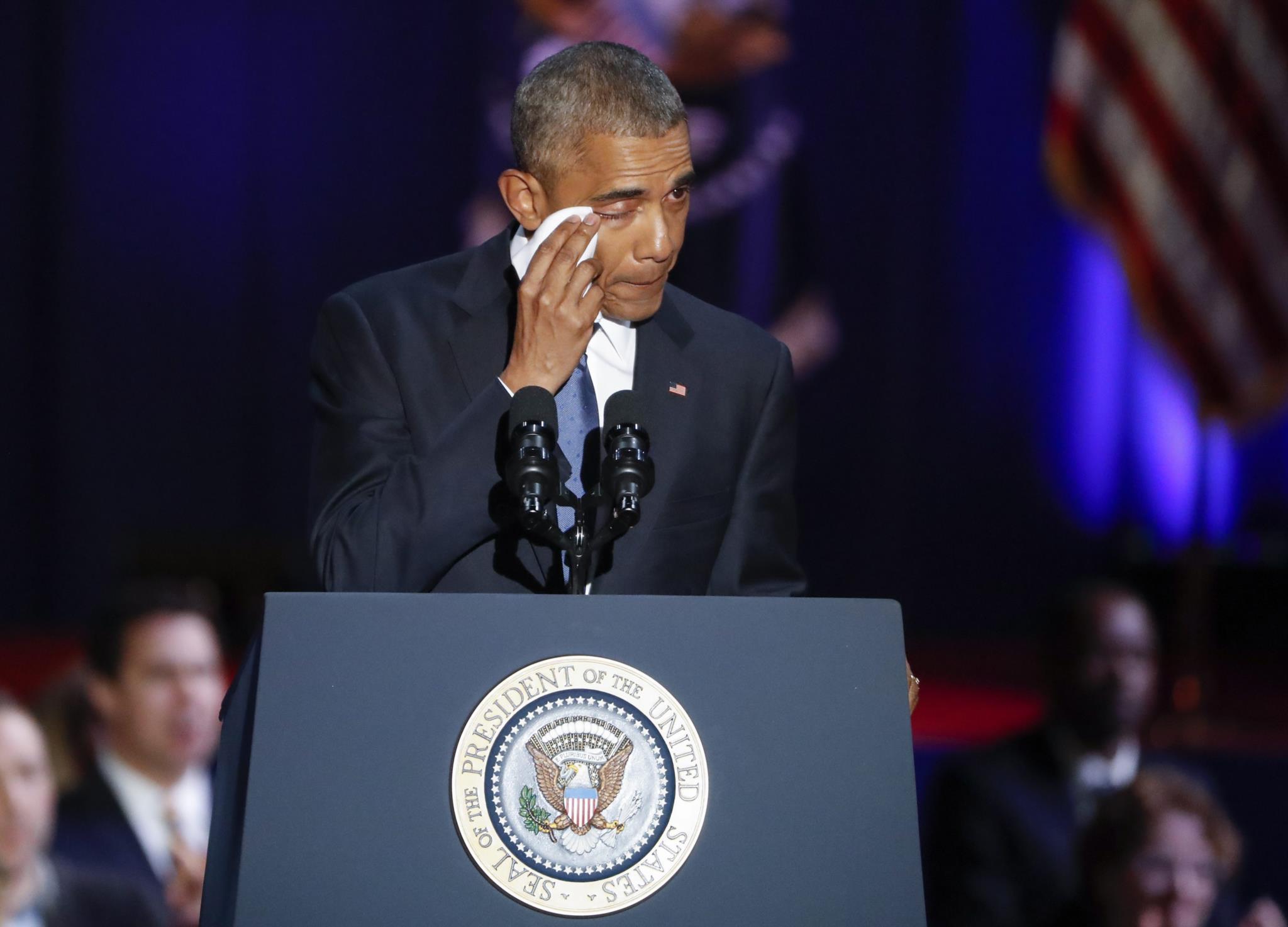 <i>Yes, we did</i> (sim, conseguimos) foram as últimas palavras que Barack Obama proferiu no seu último discurso enquanto Presidente dos Estados Unidos da América
