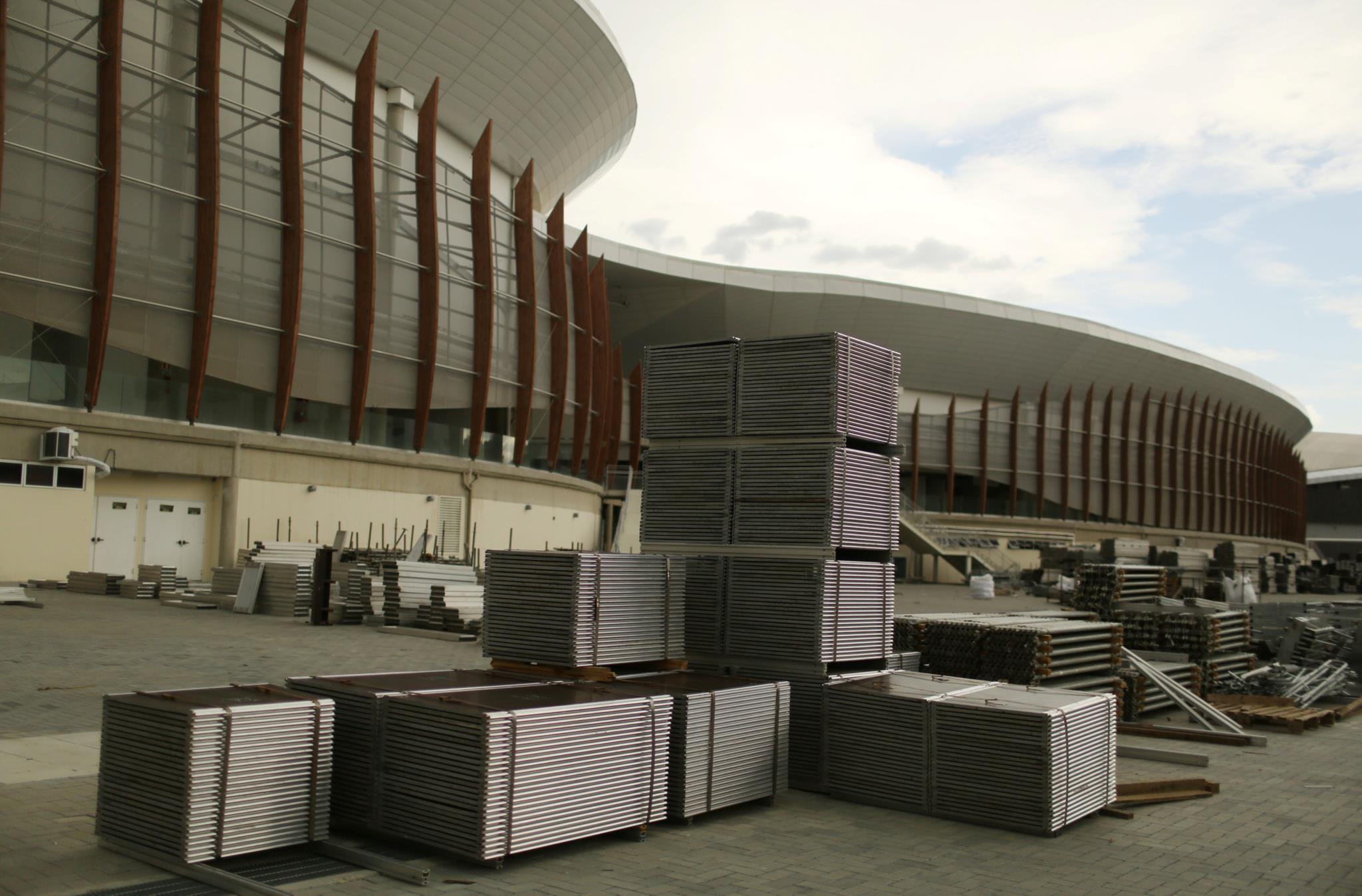 Arena carioca, onde se realizaram, por exemplo, jogos de basquetebol