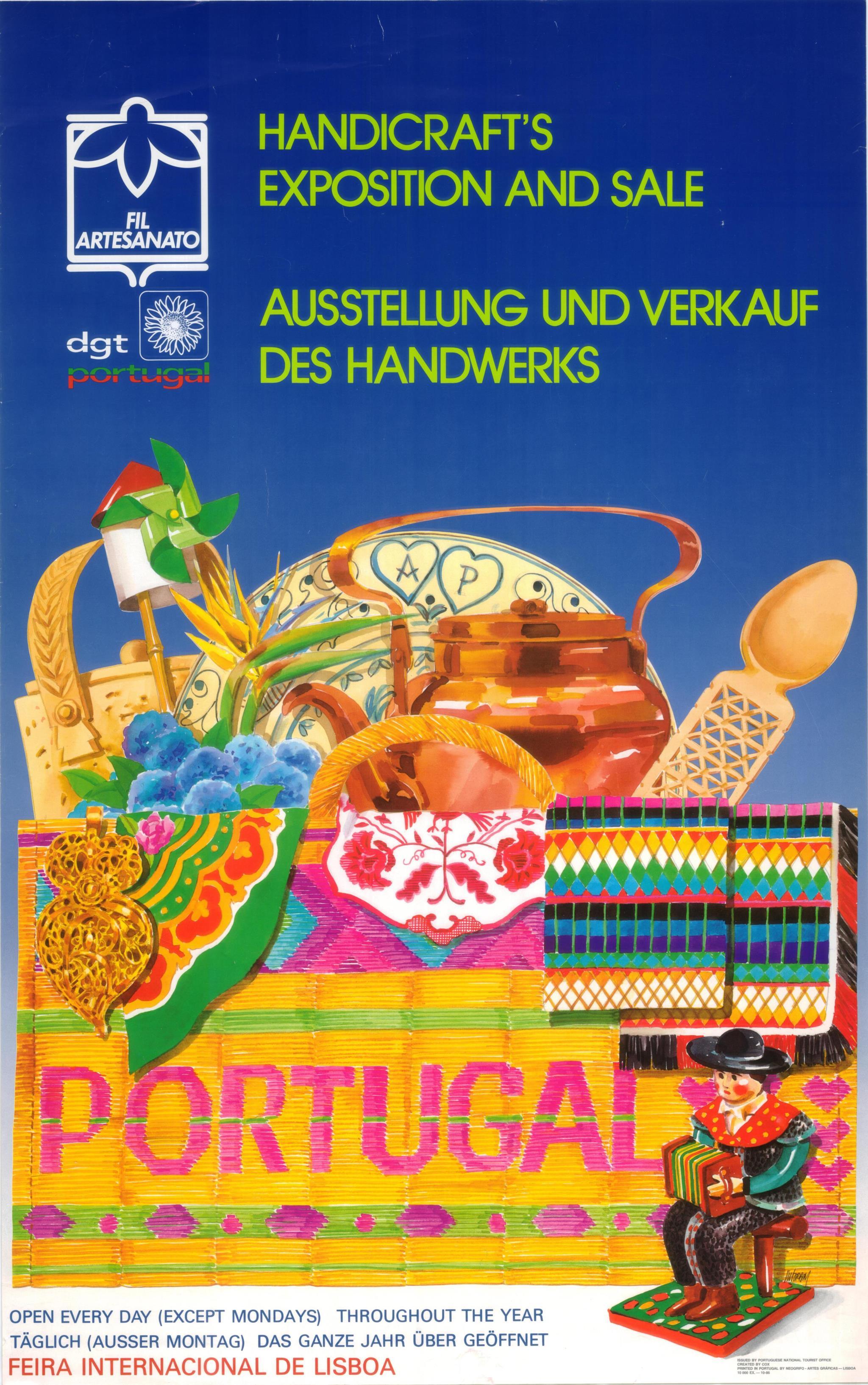 PÚBLICO - Cartaz produzido em 1986 para promover a Feira Internacional de Artesanato, em Lisboa