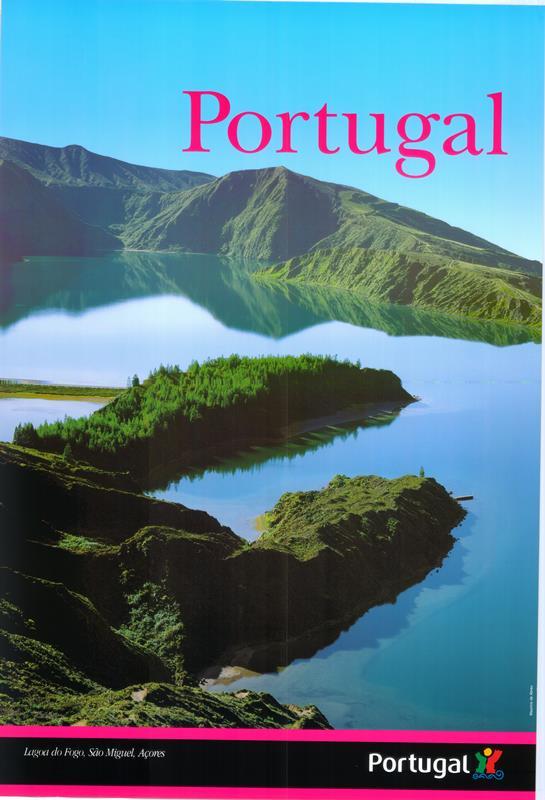 """PÚBLICO - Cartaz de campanha criada em 2003, aquando da alteração do lettering da palavra """"Portugal"""""""