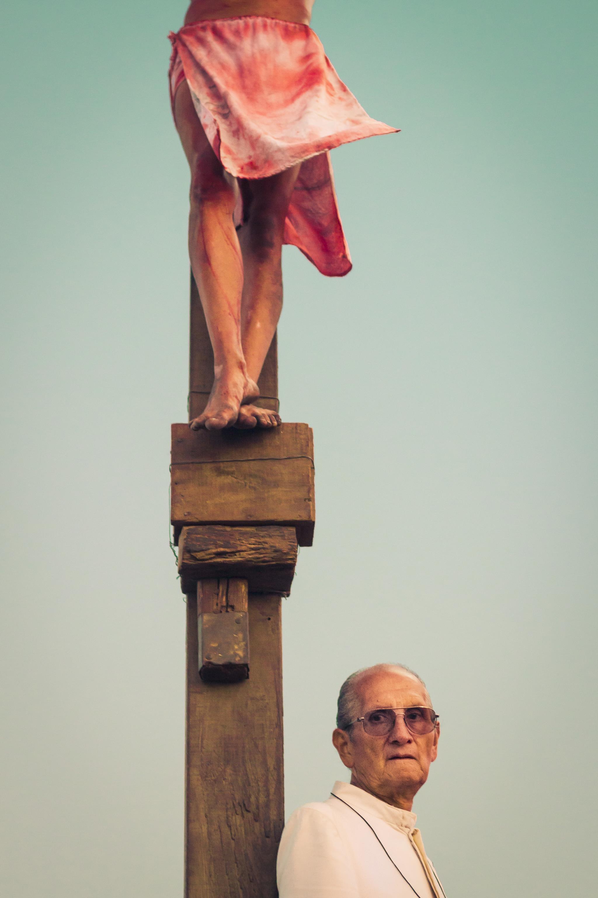 Uma encenação da crucificação de Jesus Cristo em Caracas (1.º prémio - Venezuela)