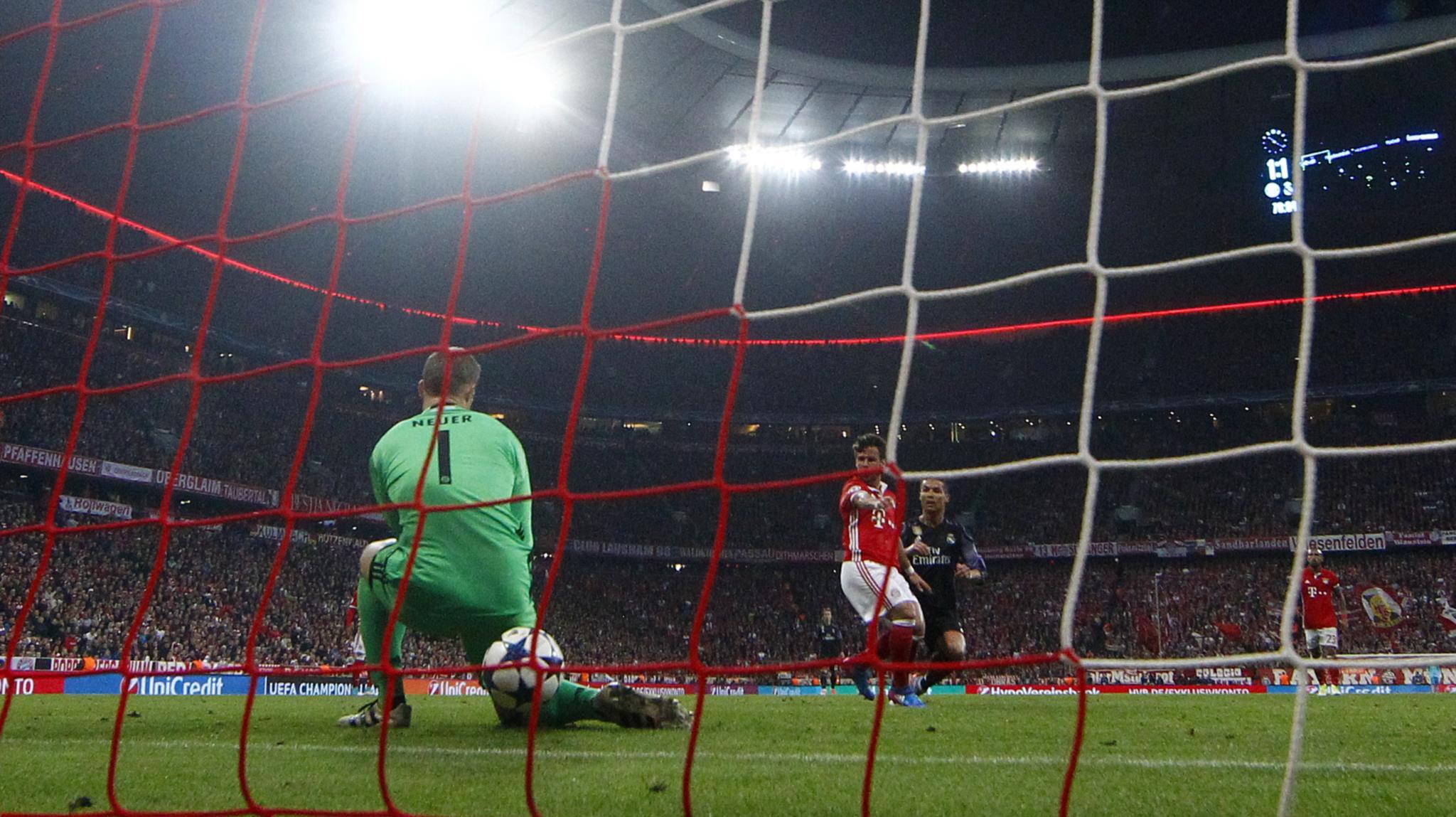 Sequência que retrata o golo que deu a vitória ao Real Madrid na semana passada