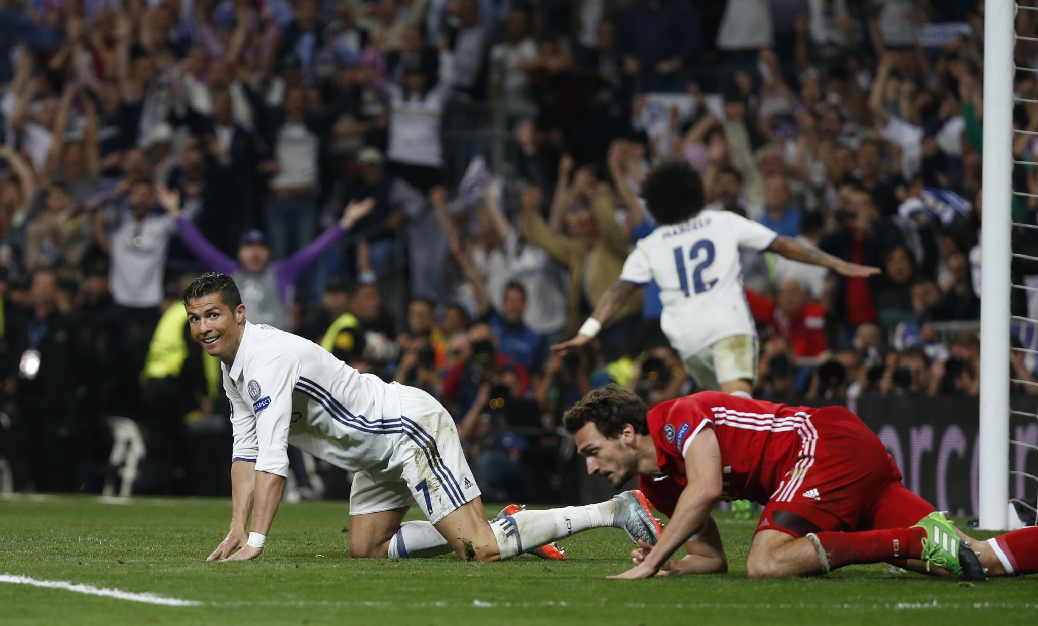 O golo foi construído por uma jogada de Marcelo