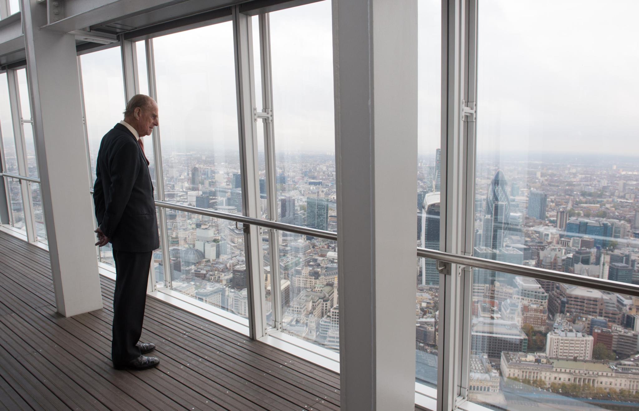 Numa visita ao edifício The Shard, em Londres, em 2013