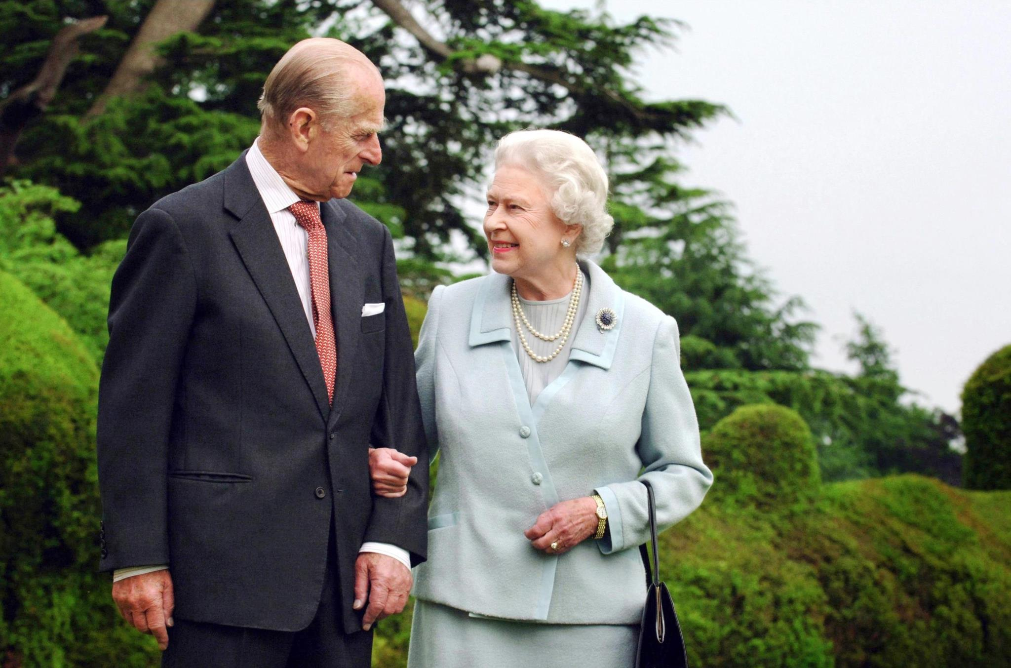 Com a Rainha Isabel II em 2007