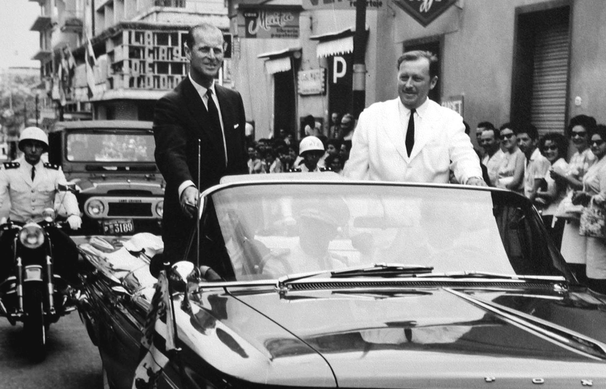 Em 1963, numa visita oficial ao Paraguai com o ditador Alfredo Stroessner