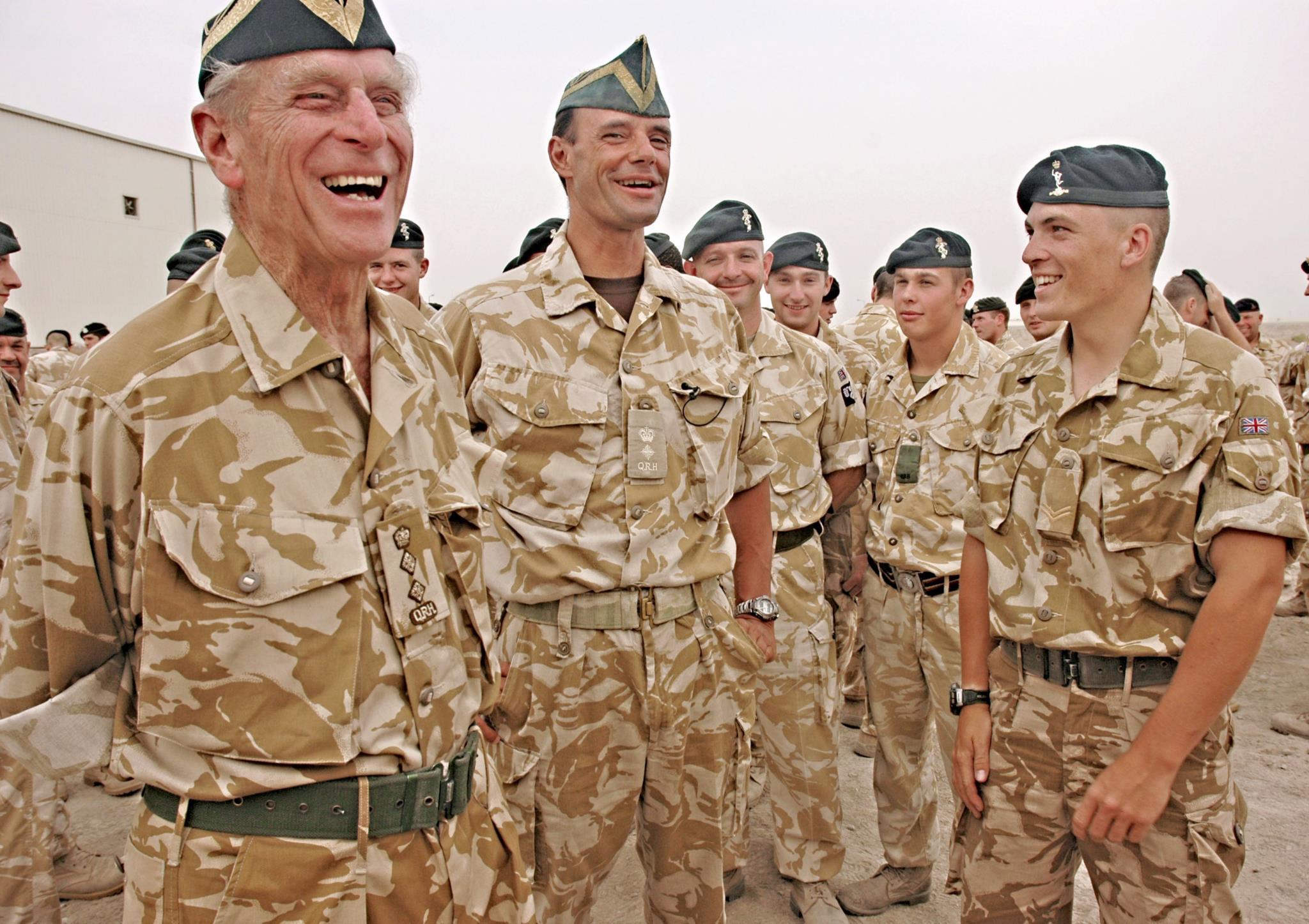Numa visita em 2006 às tropas britânicas no Iraque