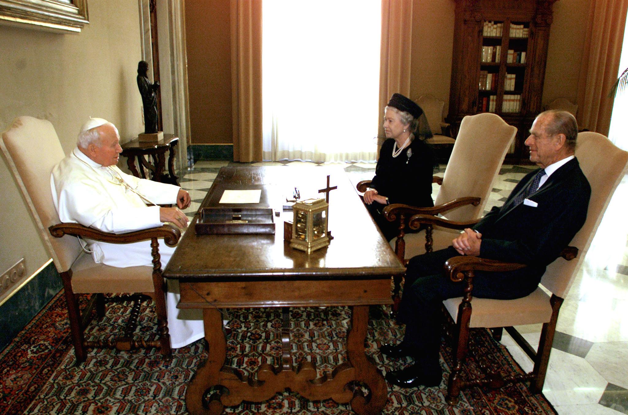 Audiência privada com o Papa João Paulo II no Vaticano em 2000