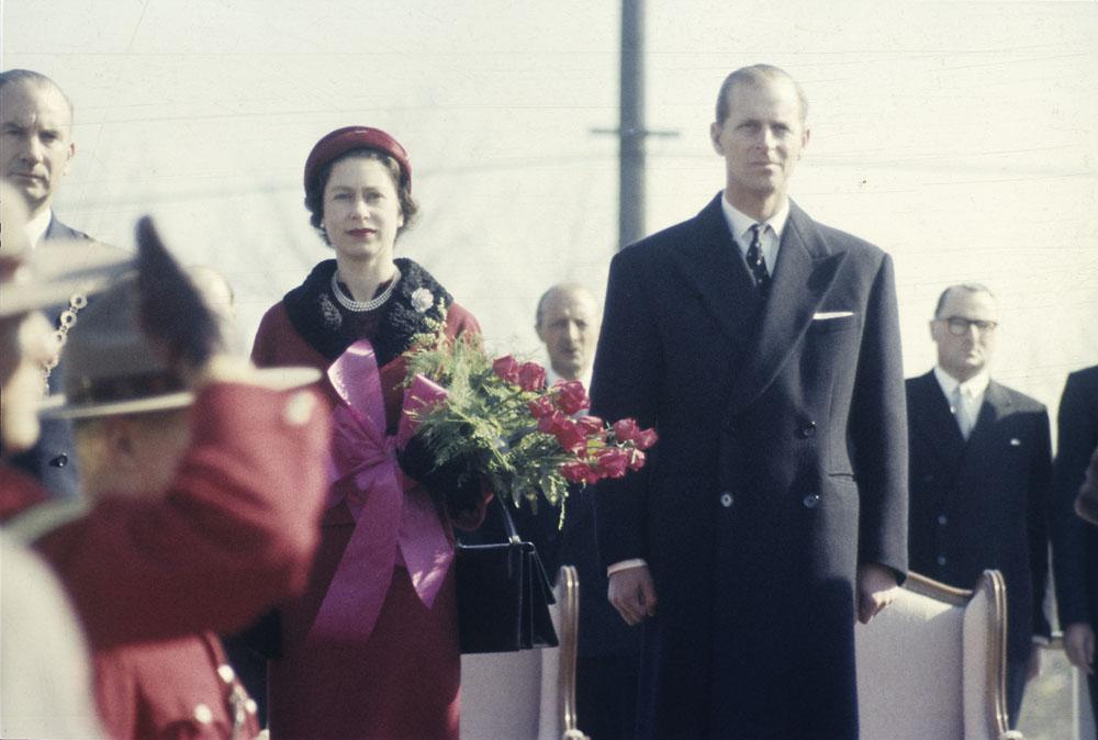 Numa visita oficial ao Canadá em 1957