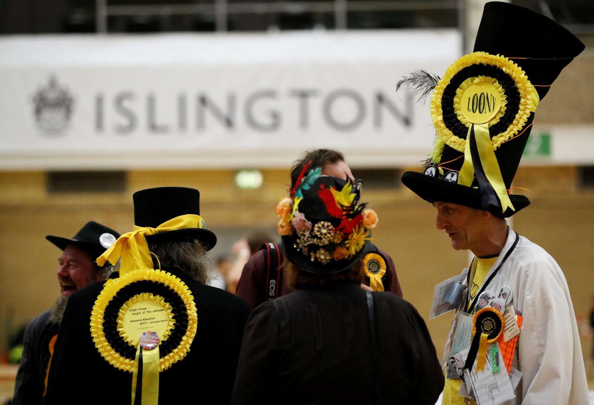 Candidatos pelo partido Official Monster Raving Loony Party