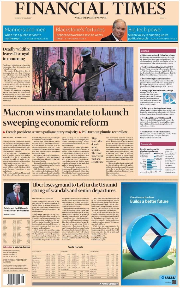 """""""Financial Times"""", Reino Unido"""