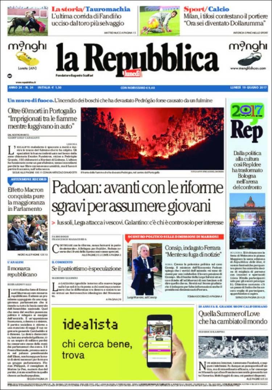 """""""La Repubblica"""", Itália"""