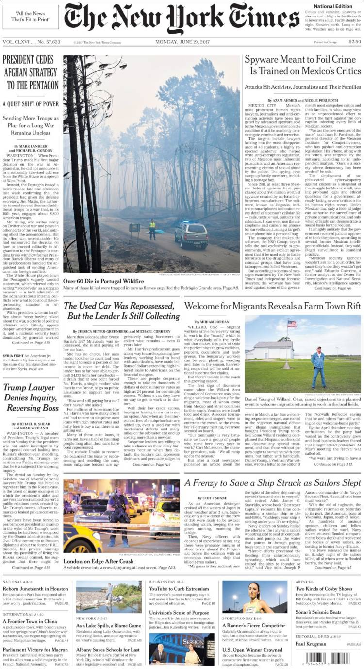 """New York Times"", EUA"