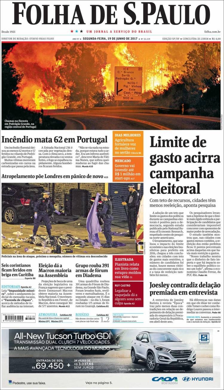 """""""Folha de São Paulo"""", Brasil"""
