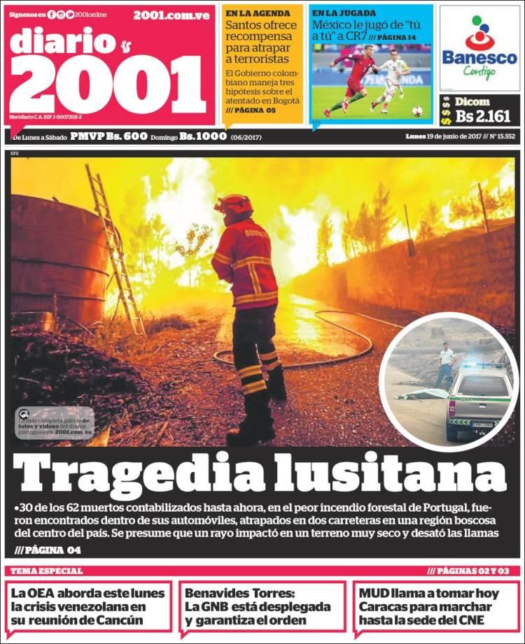 """""""Diario 2001"""", Venezuela"""
