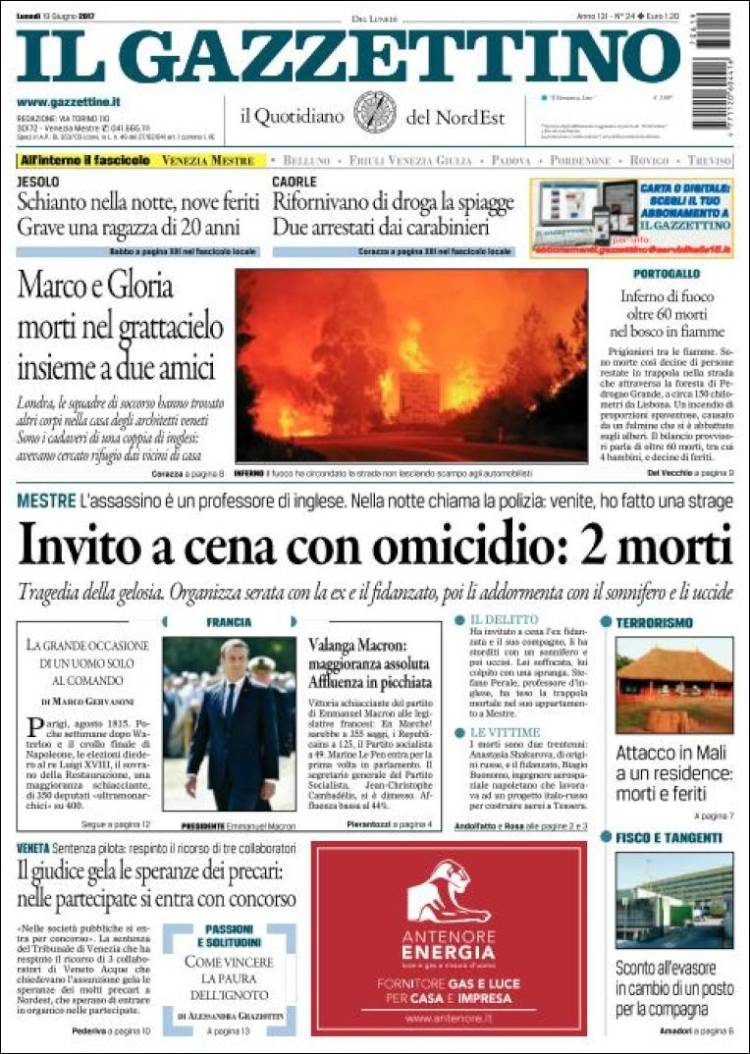 """Il Gazzettino"", Itália"