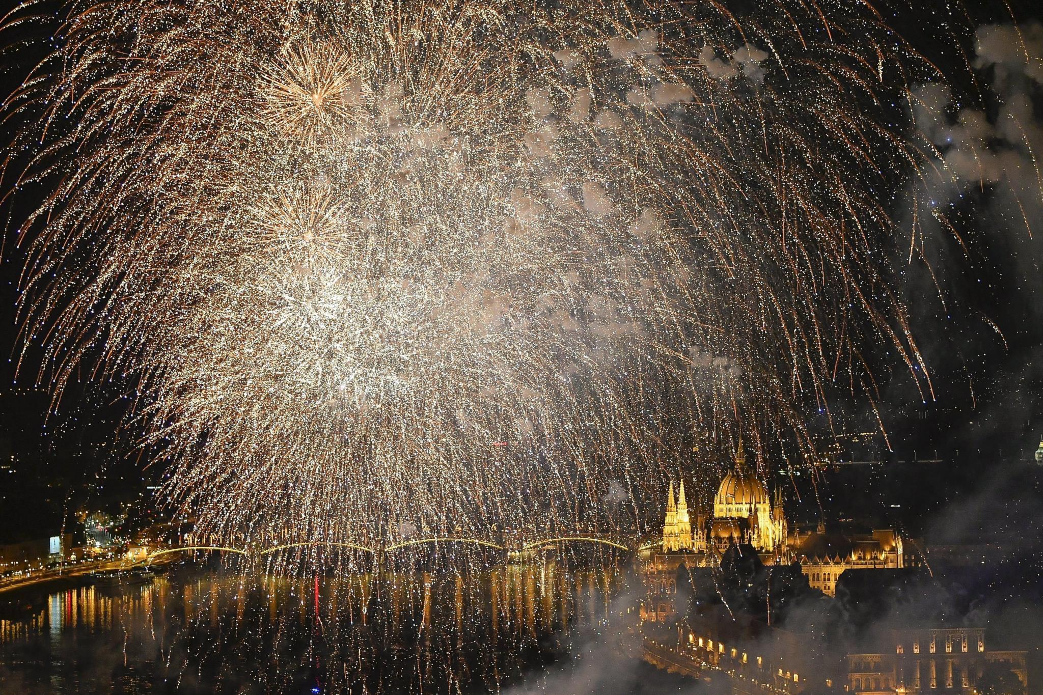 Cerimónia de abertura dos mundiais de natação, em Budapeste