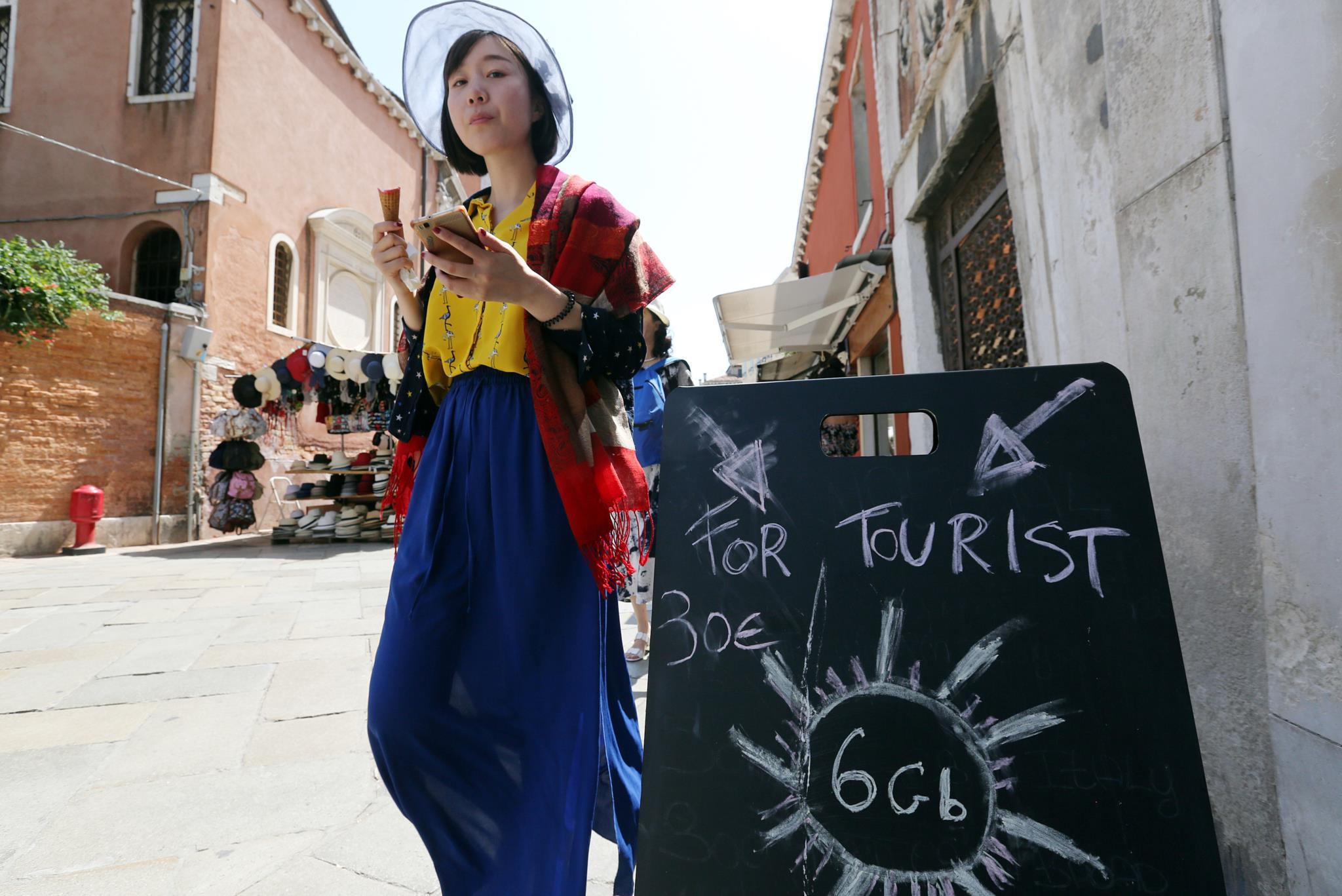 Oferta para turistas em Veneza