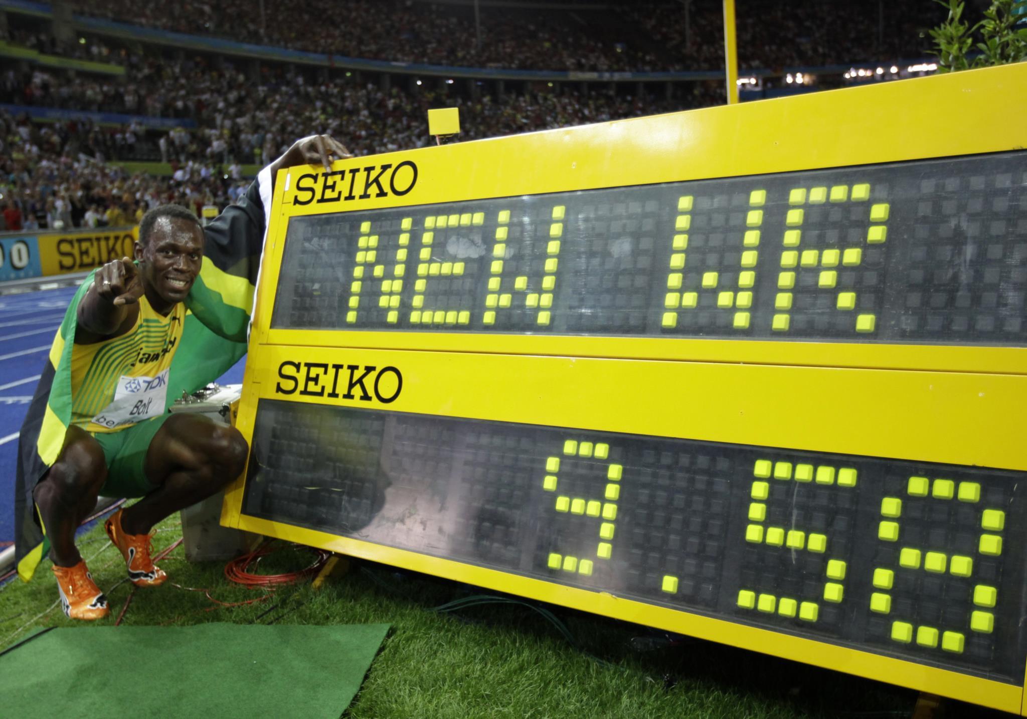 Em 2009, nos Mundias de Atletismo em Berlim, melhorou a marca: 9,58s.