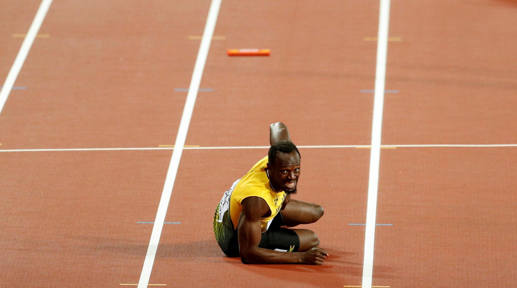 Bolt lesionou-se na final da estafeta jamaicana que fechou a carreira do velocista