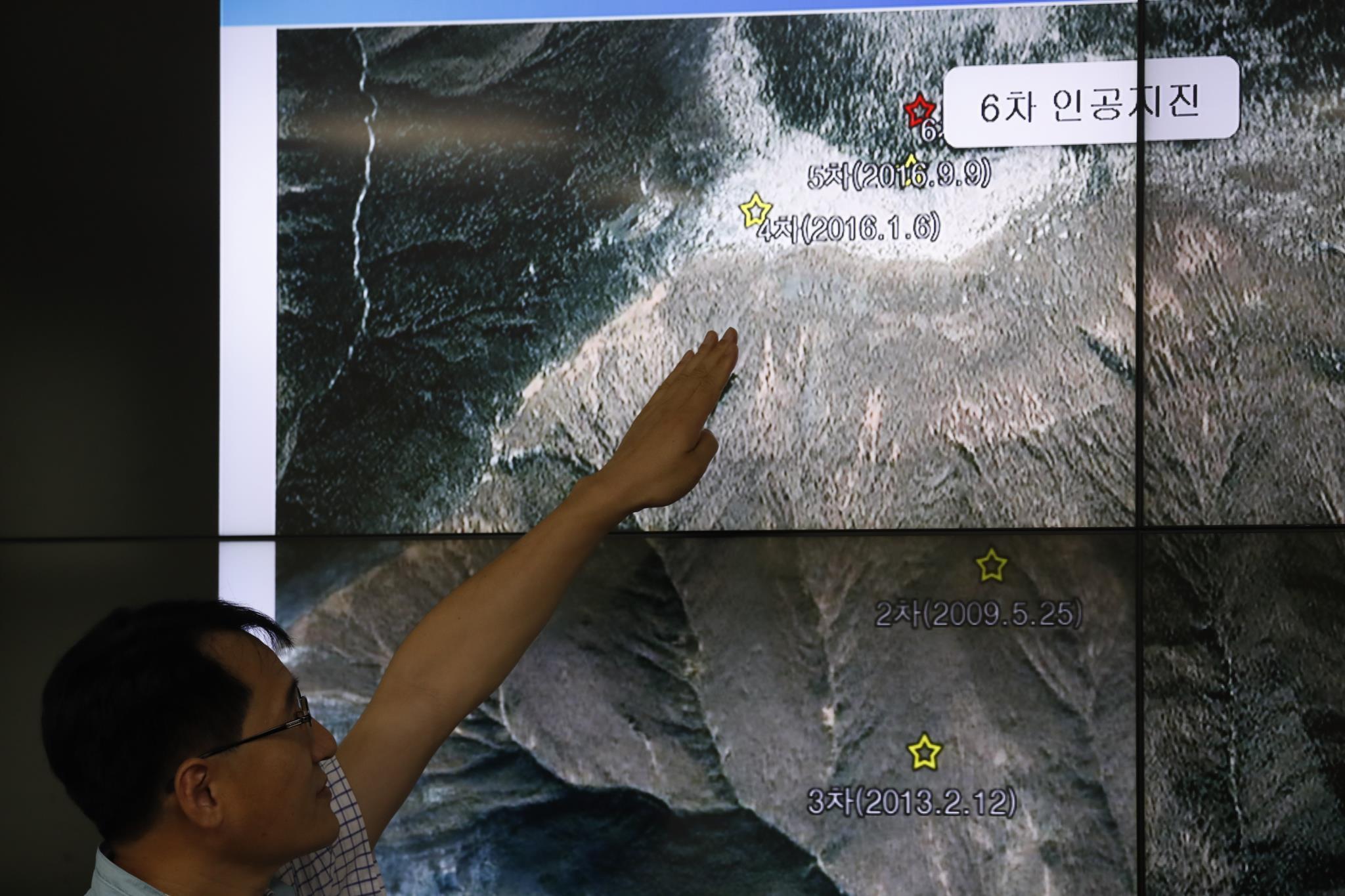 O teste foi realizado no nordeste da Coreia do Sul