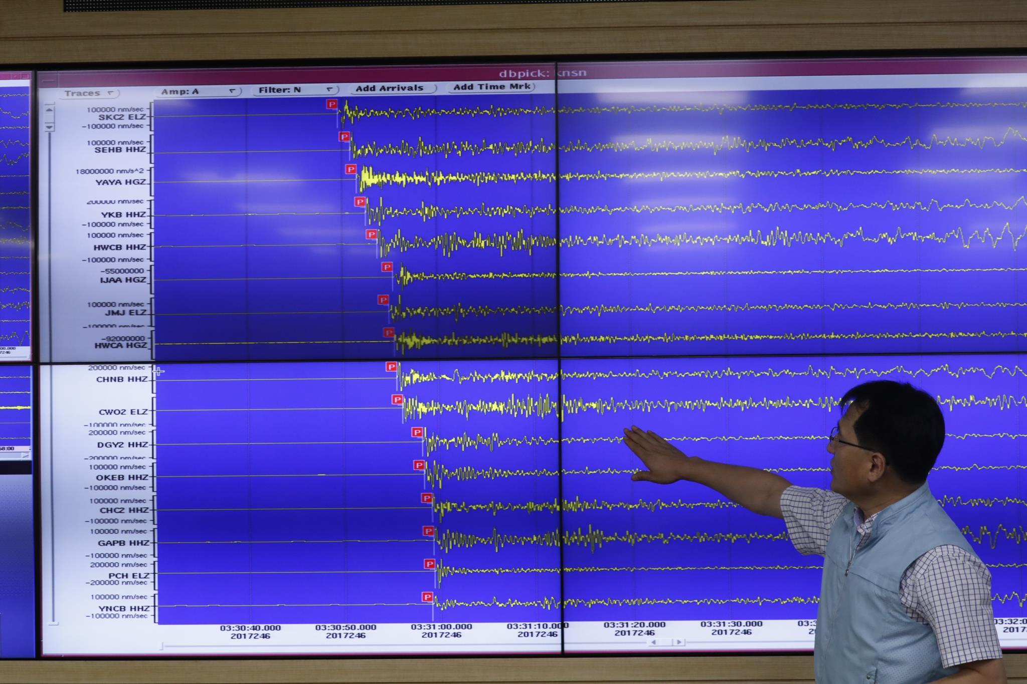 A detonação gerou um sismo artificial de 6.3 graus Richter