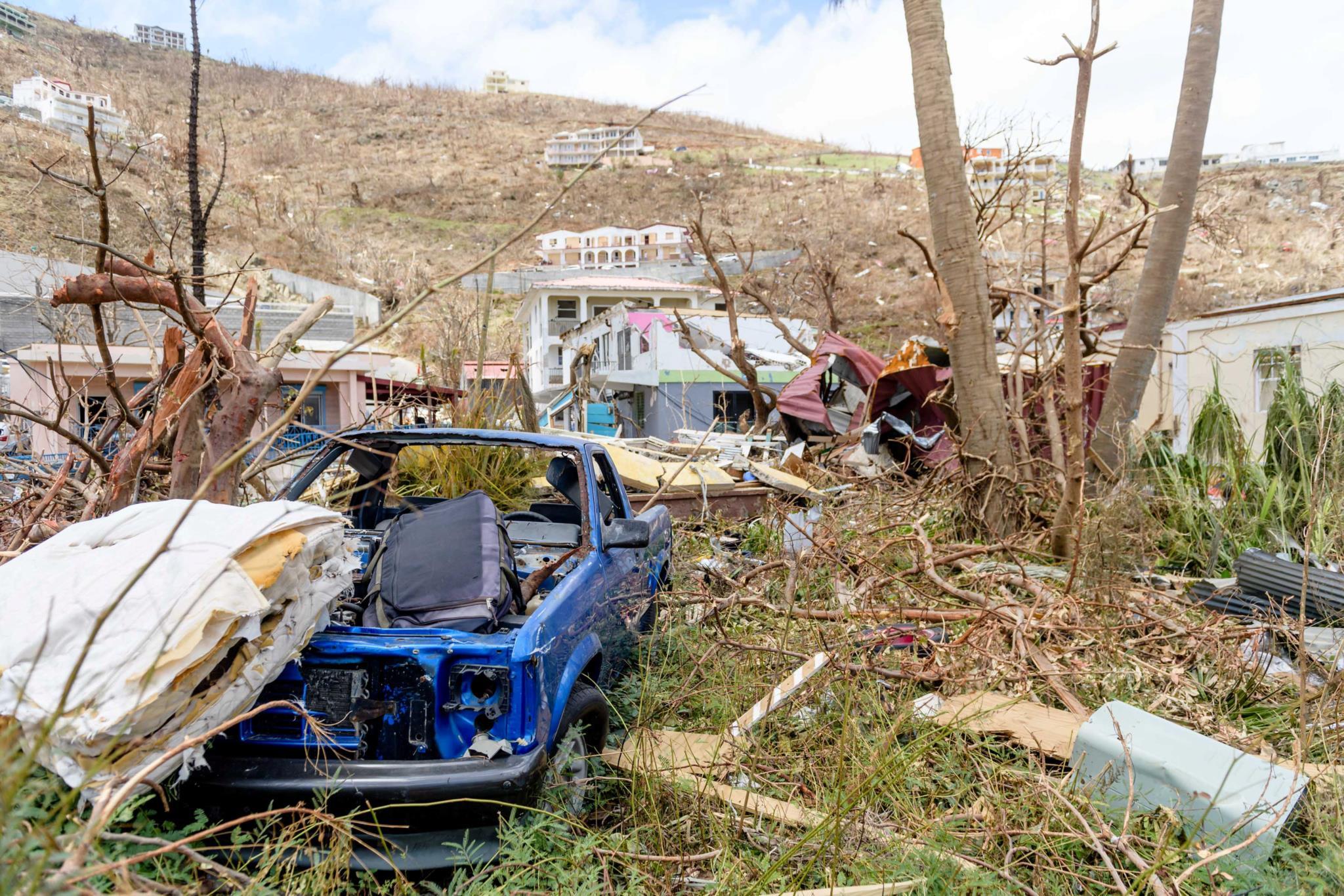 A destruição deixada para trás pelo <i>Irma</i> nas Ilhas Virgens Britânicas