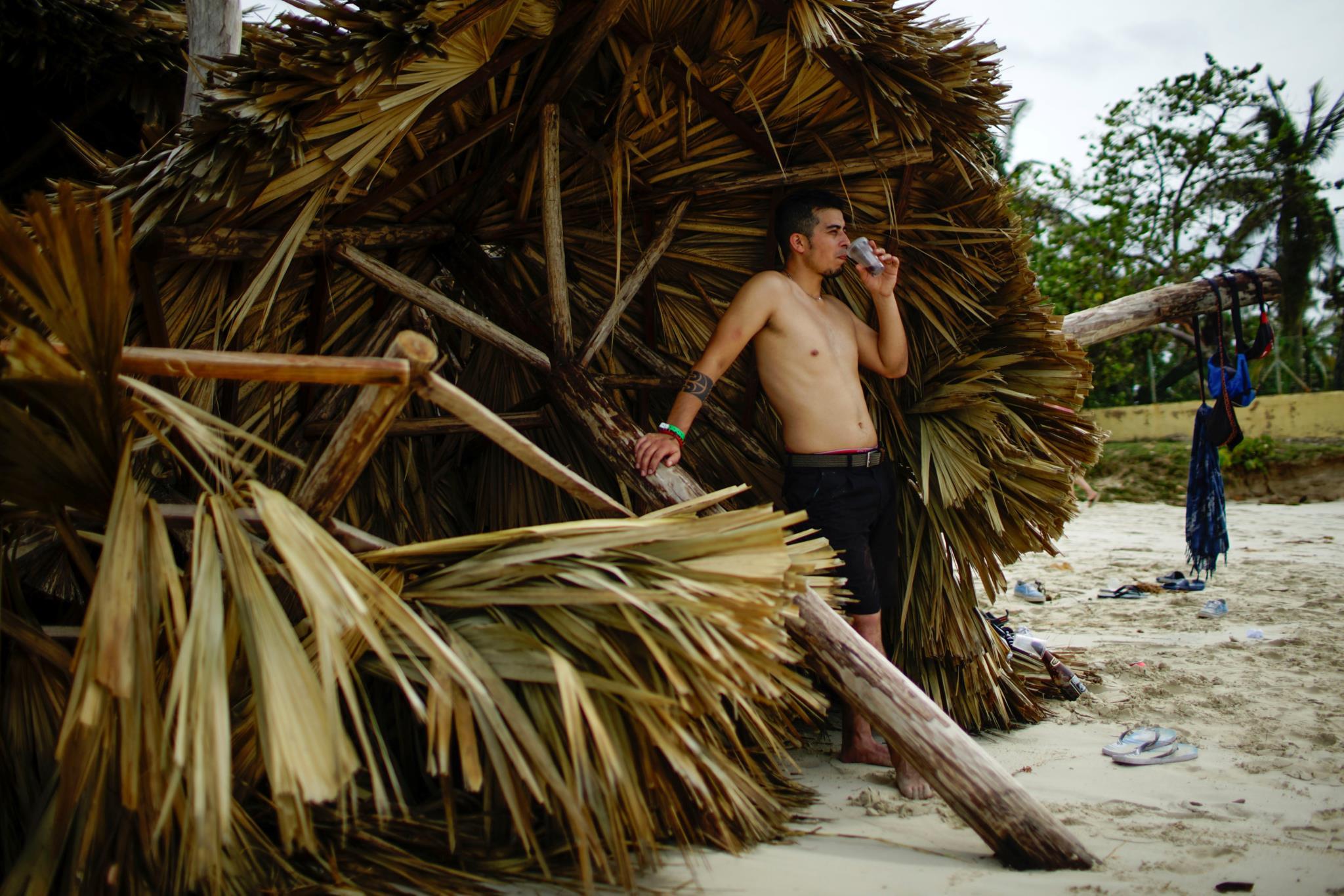 Turistas voltaram a respirar de alívio em Varadero, Cuba, após a passagem do furacão