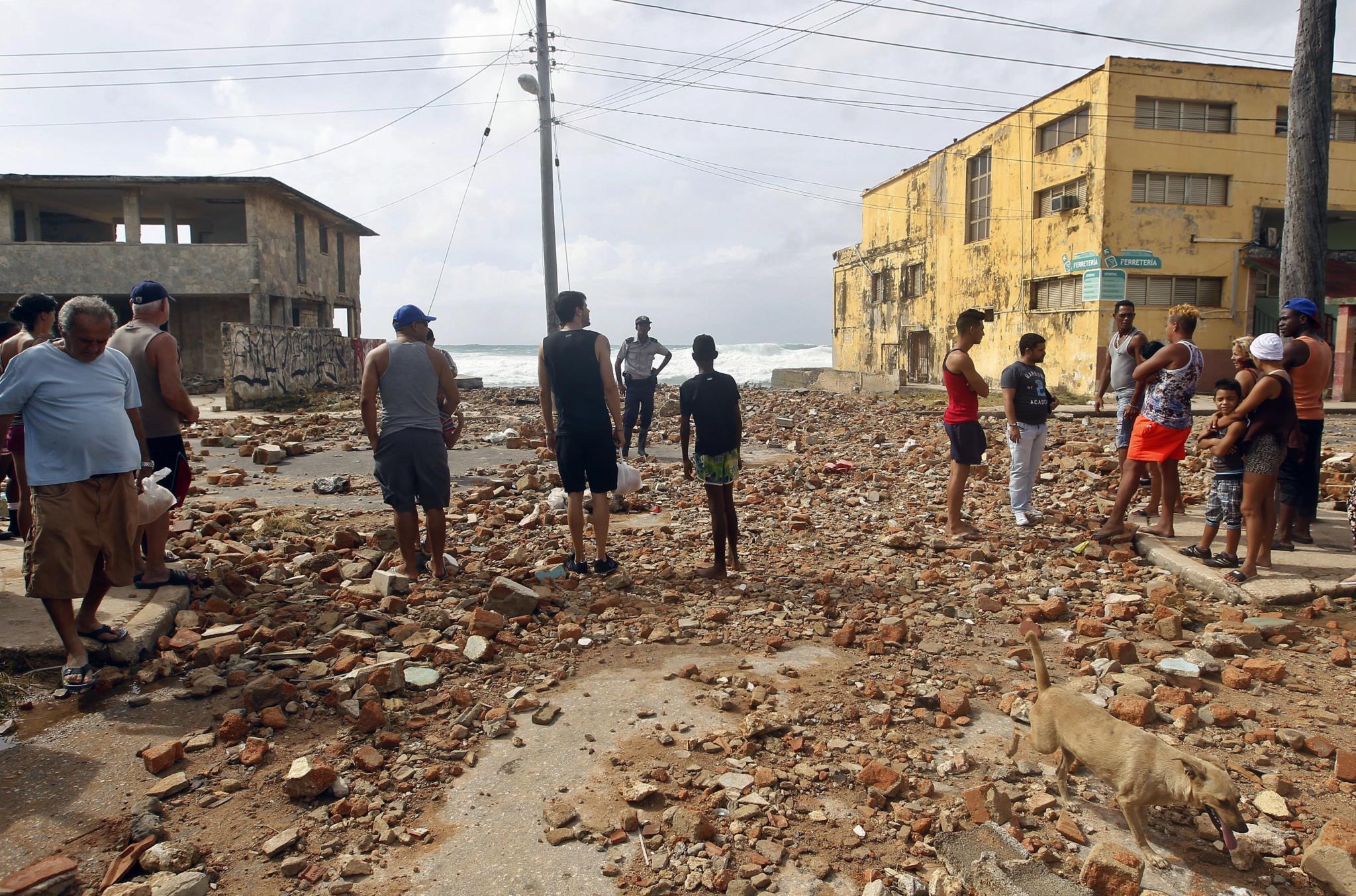 O dia depois da passagem do furacão <i>Irma</i> em Cuba