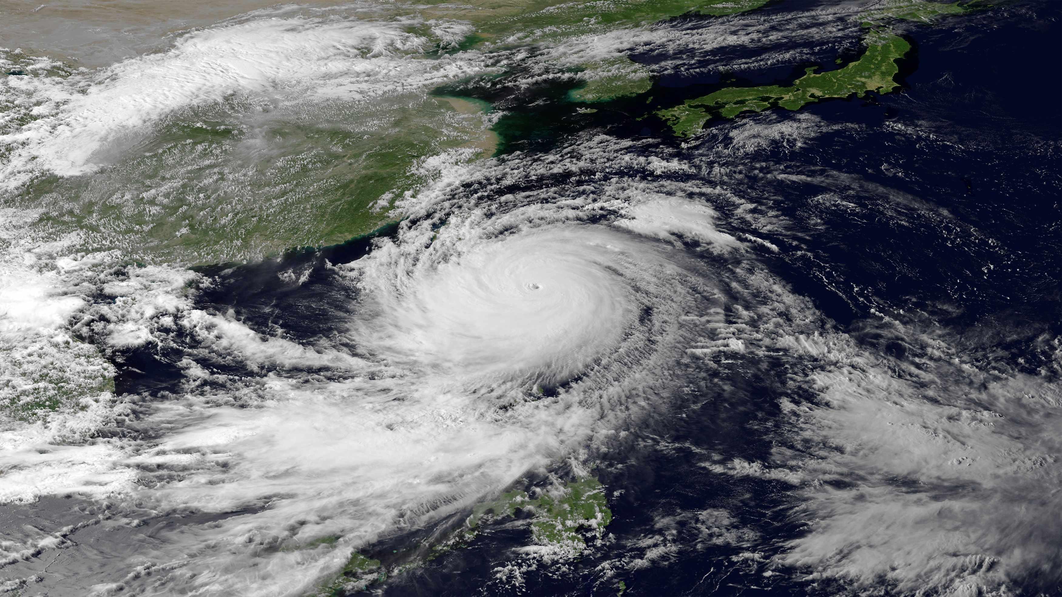 Imagem do Usagi fornecida pela  National Oceanic and Atmospheric Administration