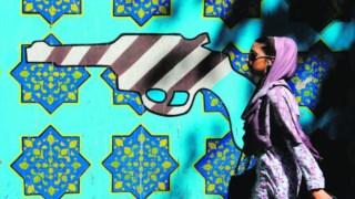 Mural em Teerão com os EUA como velhos inimigos
