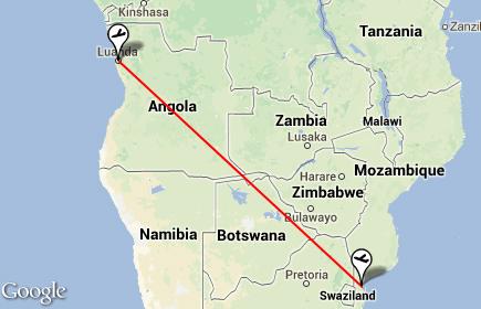 O plano de voo do avião da LAM
