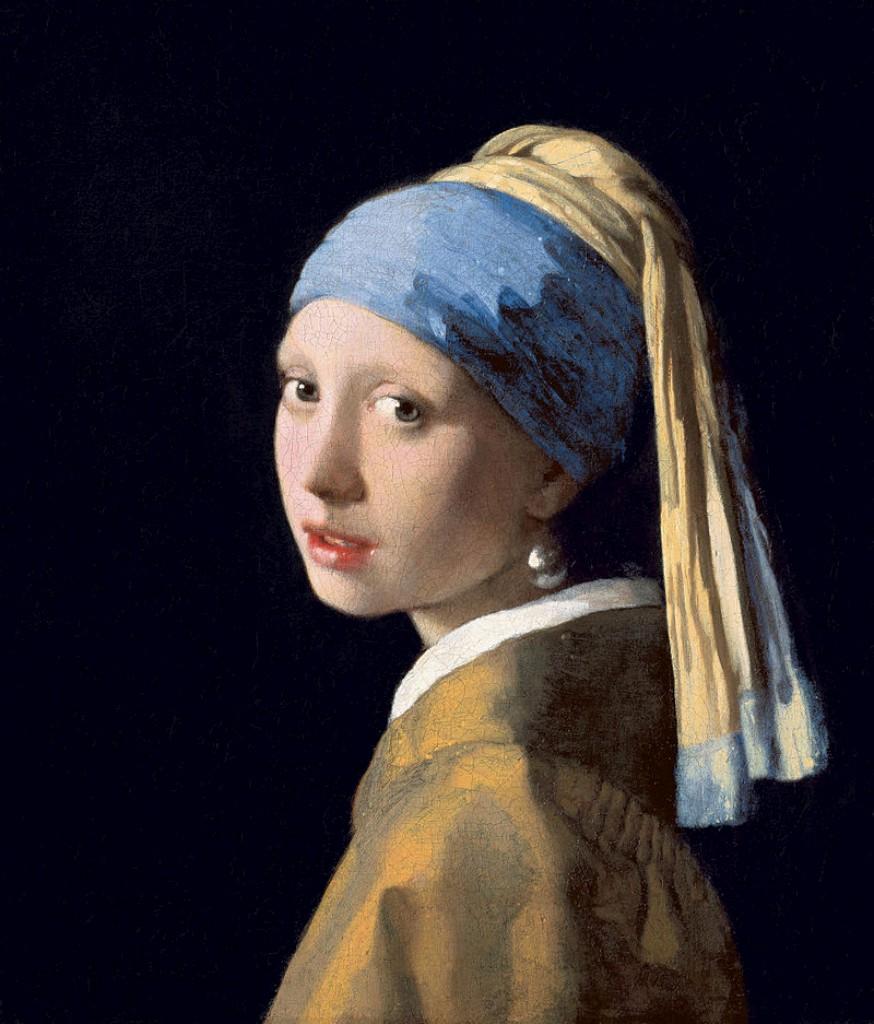 Resultado de imagem para Moça com brinco de pérola', do pintor holandês Johannes Vermeer