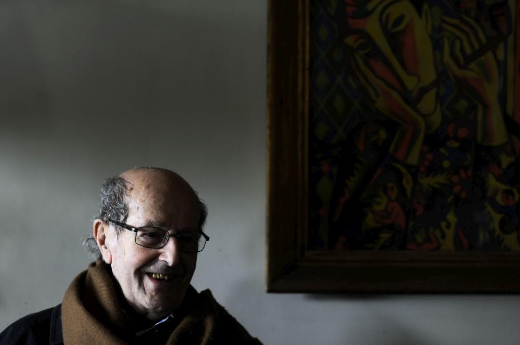 Manoel de Oliveira na sua casa no Porto