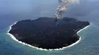 A nova ilha a 25 de Março de 2015