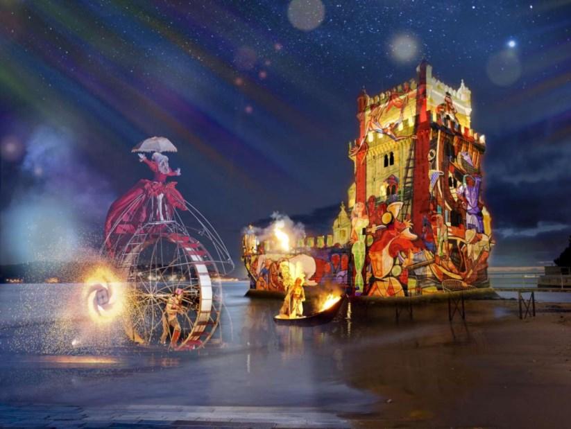 d9794e3a20c Festas de Lisboa começam com os painéis de S. Vicente projectados na Torre  de Belém