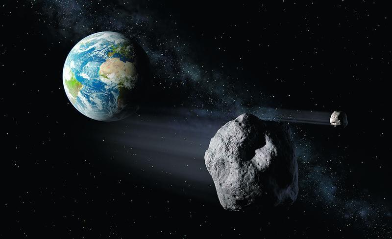 asteróide (apresentado na imagem de artista divulgada pela Agência ...