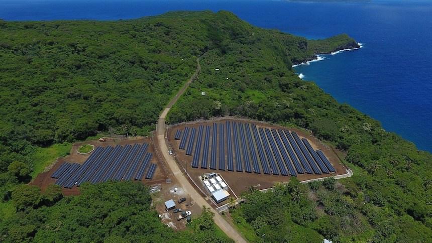 Resultado de imagem para Em menos de um ano, uma ilha do Pacífico passou a usar apenas energia solar