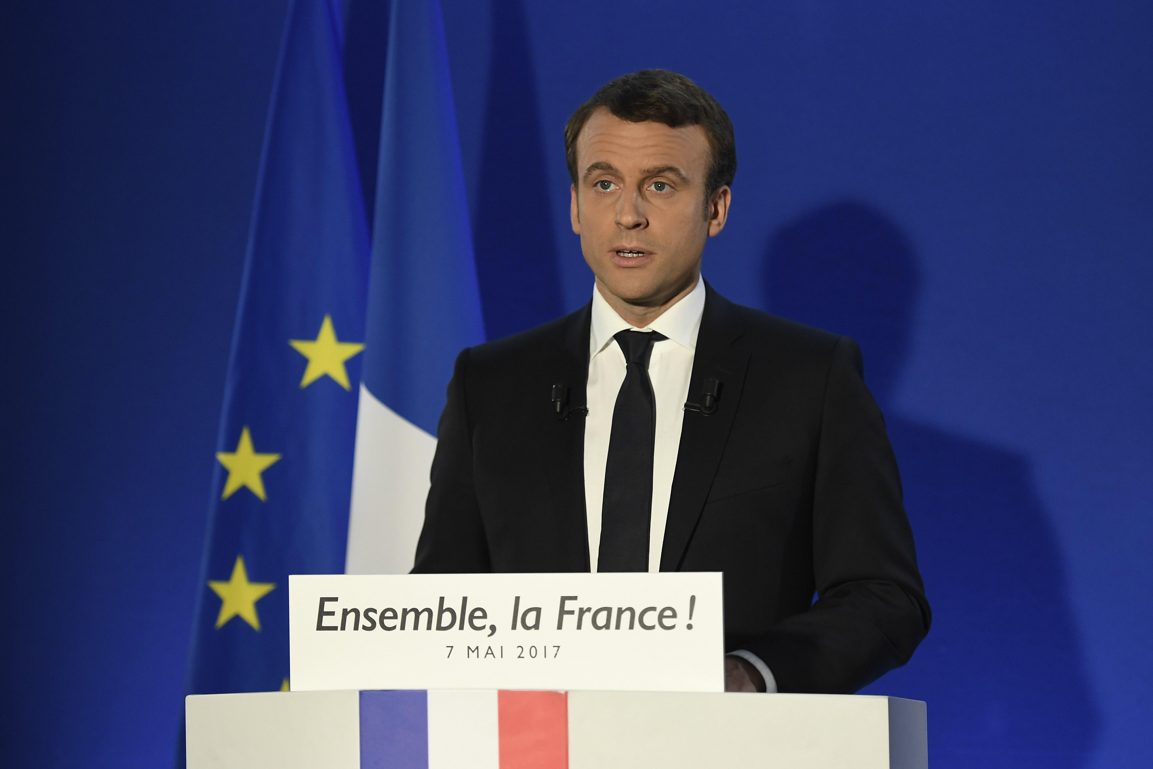 Macron promete trazer de volta quem votou em Le Pen